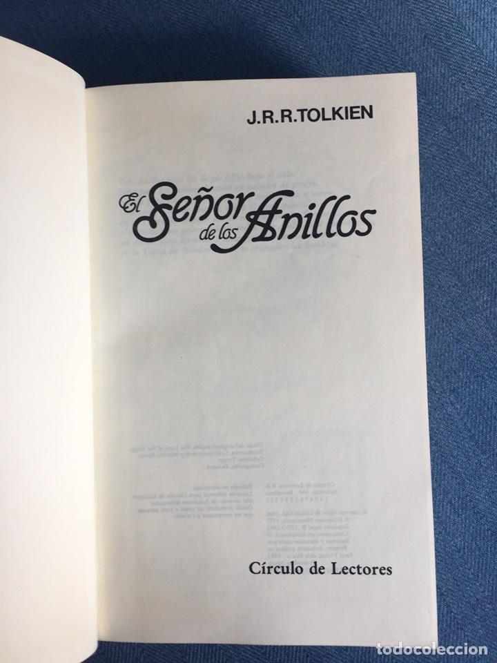 Libros de segunda mano: EL SEÑOR DE LOS ANILLOS-JJR TOLKIEN. ORIGINAL CÍRCULO DE LECTORES 1983 - Foto 2 - 109159116