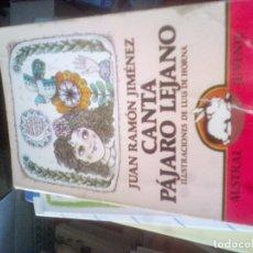 Livres d'occasion: CANTA PÁJARO LEJANO. JUAN RAMÓN JIMÉNEZ. AUSTRAL JUVENIL. ESPASA. CALPE. 1981.. Lote 109548027
