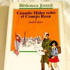 Libros de segunda mano: CUANDO HITLER ROBÓ EL CONEJO ROSA; JUDITH KERR - SALVAT ALFAGUARA 1987. Lote 113003599