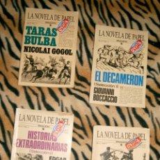 Libros de segunda mano: LOTE 4 LA NOVELA DE PAPEL BRUGUERA 1985. Lote 115586159