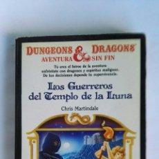 Libros de segunda mano: LOS GUERREROS DEL TEMPLO DE LA LUNA DUNGEONS & DRAGONS AVENTURA SIN FIN. Lote 115875608