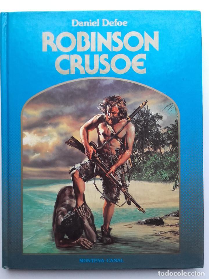 ROBINSON CRUSOE - DANIEL DEFOE - ED. MONTENA. LA ROSA DE ORO (Libros de Segunda Mano - Literatura Infantil y Juvenil - Novela)