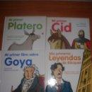 Libros de segunda mano: LOTE 4 LIBROS EN TAPA DURA DE LA SERIE MI PRIMER LIBRO, GOYA, BÉCQUER, CID Y PLATERO. Lote 117462895