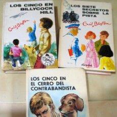 Libros de segunda mano: LOTE DE 3 LIBROS DE- LOS CINCO - DE - ENID BLYTON- Nº 25 DE 1977 Y Nº 9 Y 38 DE 1971. Lote 117475315