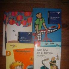 Libros de segunda mano: LOTE 4 LIBROS DE LITERATURA INFANTÍL A PARTIR DE 8 AÑOS, PERFECTO ESTADO. Lote 117968967