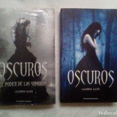 Libros de segunda mano: LOTE DE 2 LIBROS SAGA OSCUROS, NO CREPÚSCULO, FANTASÍA. Lote 118028651