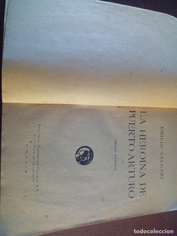Libros de segunda mano: La heroína de Puerto Arturo Emilio Salgari - Foto 3 - 119427843
