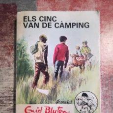 Libros de segunda mano: ELS CINC VAN DE CÀMPING - ENID BLYTON - EN CATALÀ. Lote 119751279