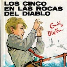 Libros de segunda mano: LOS CINCO EN LAS ROCAS DEL DIABLO - ENID BLYTON - Nº 43 - EDITORIAL JUVENTUD, 4ª EDICIÓN, 1974.. Lote 141769345