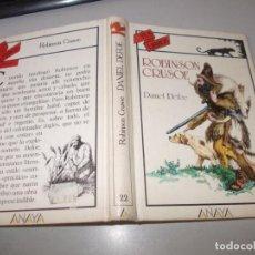 Libros de segunda mano: TUS LIBROS AVENTURAS Nº 22 ROBINSON CRUSOE, DANIEL DEFOE. ANAYA 4ª ED. JULIO 1.987. Lote 131196088