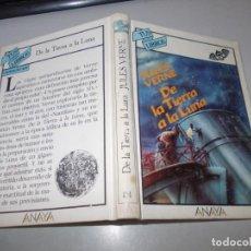 Libros de segunda mano: TUS LIBROS CIENCIA FICCIÓN Nº 84 DE LA TIERRA A LA LUNA, JULES VERNE. ANAYA 1ª ED. FEBRERO 1.989. Lote 131196280