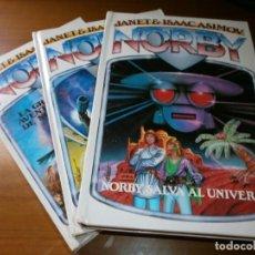 Libros de segunda mano: 3 NOVELAS DE NORBY - Nº 6,7,8 - JANET & ISAAC ASIMOV - EDT. MOLINO - 1990.. Lote 132205602