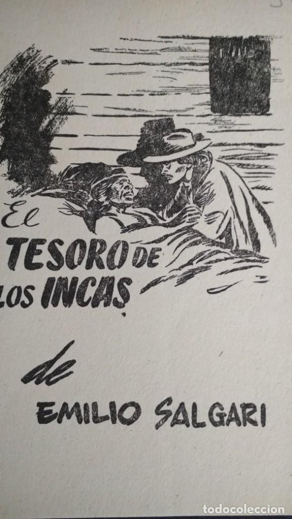 Libros de segunda mano: EL TESORO DE LOS INCAS DE EMILIO SALGARI - ED. MOLINO VER FOTOS - Foto 2 - 132251694