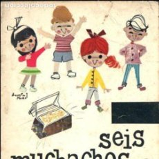 Libros de segunda mano: CARMEN IGLESIAS : SEIS MUCHACHOS Y UN TESORO (GRUMETE, 1961) PORTADA ACOSTA MORO. Lote 136126042
