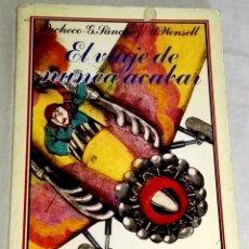 Libros de segunda mano: EL VIAJE DE NUNCA ACABAR; M.A. PACHECO, L.Gª SÁNCHEZ - EDICIONES ALTEA 1984. Lote 137901502