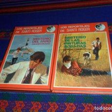 Libros de segunda mano: LOS REPORTAJES DE SANTI ROGER 1 MISTERIO DE LAS PINTURAS ROBADAS 3 DEL FARO ABANDONADO. MOLINO 1974. Lote 139941810