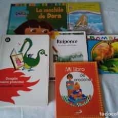 Libros de segunda mano: 129-LOTE DE 6 LIBROS INFANTILES, DISTINTAS EDITORIALES, BUEN ESTADO. Lote 140720774