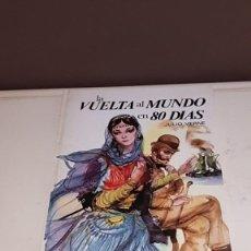 Libros de segunda mano: LA VUELTA AL MUNDO EN 80 DÍAS - JULIO VERNE (COLECCIÓN SAETA Nº 48, EDICIONES SUSAETA, 1979). Lote 142695074