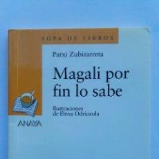 Libros de segunda mano: MAGALI POR FIN LO SABE SOPA DE LIBROS ANAYA. Lote 143109213