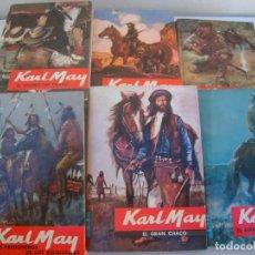 Libros de segunda mano: LOTE DE 12 LIBROS DE KARL MAY EDITORIAL MOLINO TAPA DURA 1963. Lote 147010078