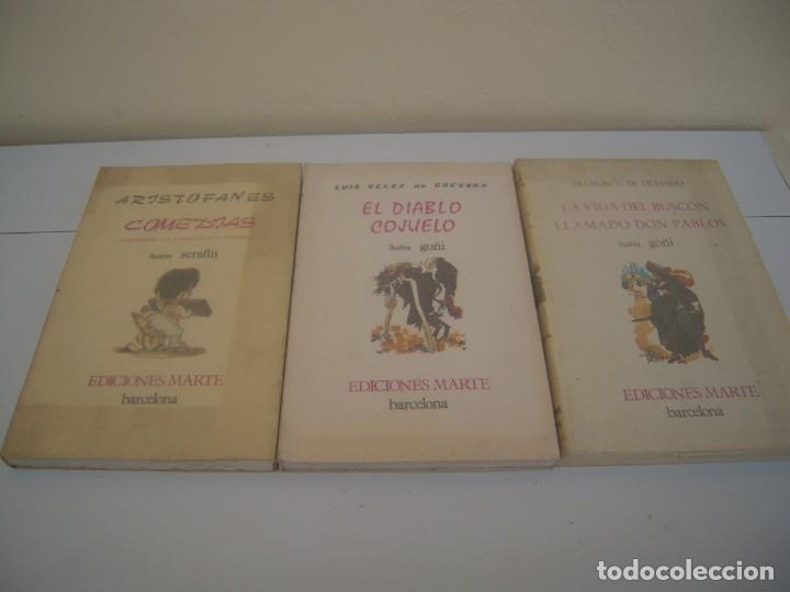TRES LIBROS DE EDICIONES MARTE TIRADAS NUMERADAS (Libros de Segunda Mano - Literatura Infantil y Juvenil - Novela)