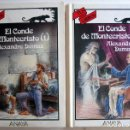 Libros de segunda mano: EL CONDE DE MONTECRISTO, DE ALEJANDRO DUMAS. 2 TOMOS. COLECCIÓN TUS LIBROS ANAYA. Lote 150701178