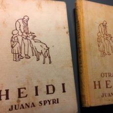 Libros de segunda mano: HEYDI Y OTRA VEZ HEIDI, JUANA SPYRI. Lote 150995630