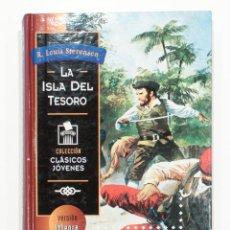 Libros de segunda mano: LA ISLA DEL TESORO. ROBERT LOUIS STEVENSON. COLECCION CLASICOS JOVENES. VERSION INTEGRA. 1994.. Lote 151131674