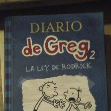 Libros de segunda mano: DIARIO DE GREG Nº 2: LA LEY DE RODRICK (BARCELONA, 2009). Lote 151433694