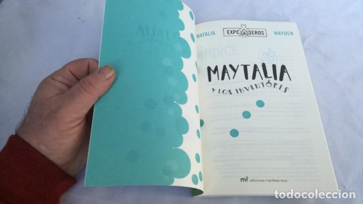 Libros de segunda mano: MAYTALIA Y LOS INVENTORES/ NATALIA Y MAYDEN/ EXPCASEROS/ MARTINEZ ROCA - Foto 4 - 151979310