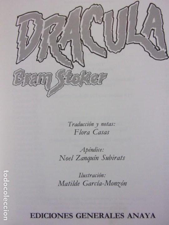Libros de segunda mano: DRACULA / Bram Stoker / 1ª edición 1984. Anaya Tus Libros - Foto 2 - 155046918