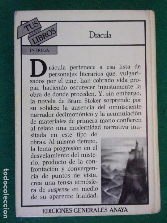 Libros de segunda mano: DRACULA / Bram Stoker / 1ª edición 1984. Anaya Tus Libros - Foto 5 - 155046918