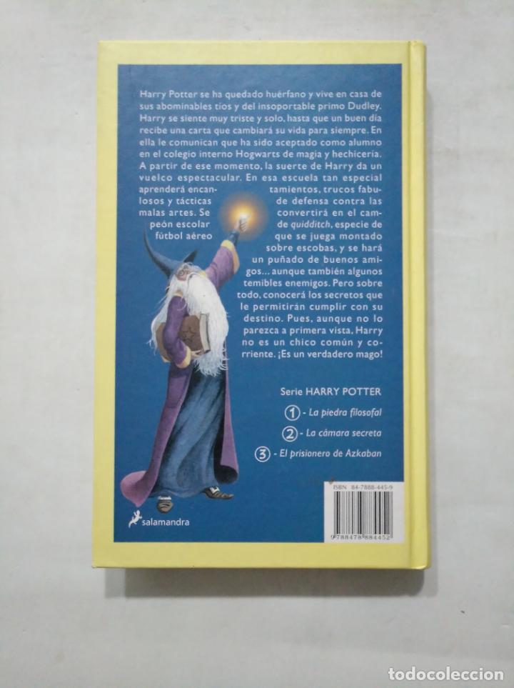 Libros de segunda mano: HARRY POTTER Y LA PIEDRA FILOSOFAL. Nº 1. J.K. ROWLING. EDITORIAL SALAMANDRA. TDK377 - Foto 2 - 155293982