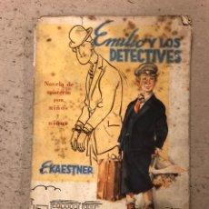 Libros de segunda mano: EMILIO Y LOS DETECTIVES. E. KAESTNER. EDITORIAL JUVENTUD.. Lote 157108609