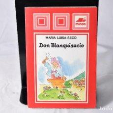 Libros de segunda mano: DON BLANQUISUCIO , SECO , MARIA LUISA. Lote 158224130