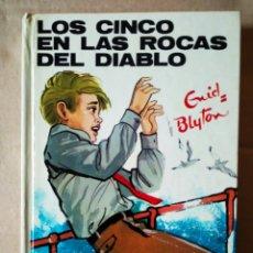 Libros de segunda mano: LOS CINCO EN LAS ROCAS DEL DIABLO, POR ENID BLYTON (EDITORIAL JUVENTUD, 1985) -JOSÉ CORREAS-. Lote 158351017