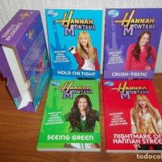 Libros de segunda mano: DISNEY HANNAH MONTANA COLLECTION 4 LIBROS SUPERSTAR STORIES (EN INGLES). Lote 159836990