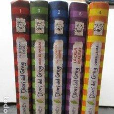 Libros de segunda mano: LOTE DE 5 LIBROS DE NUM. 1 AL 5 . DIARI DEL GREG (EN CATALAN) EXCELENTE ESTADO.. Lote 161025010