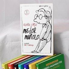 Libros de segunda mano: TODO MANOLITO GAFOTAS DE ELVIRA LINDO. 8 LIBROS. Lote 161577882