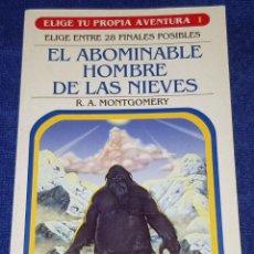Libros de segunda mano: EL ABOMINABLE HOMBRE DE LAS NIEVES - ELIGE TU PROPIA AVENTURA Nº 1 - EDICIONES SM (2007). Lote 162448502
