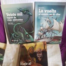 Libros de segunda mano: TRES LIBROS DE JULIO VERNE. Lote 167136124