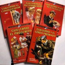Libros de segunda mano: RICHARD CROMPTON. LAS AVENTURAS DE GUILLERMO (5 NÚMEROS). BARCELONA, 2002.. Lote 167599040