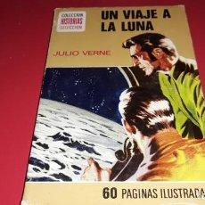Libros de segunda mano: UN VIAJE A LA LUNA JULIO VERNE COLECCIÓN HISTORIAS SELECCION 250 ILUSTRACIONES 1973. Lote 169068112