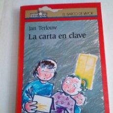 Libros de segunda mano: 168-LA CARTA EN CLAVE, JAN TERLLOUW, BARCO DE VAPOR, 1990. Lote 171367584