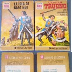 Libros de segunda mano: LOTE 2 LIBROS CAPITÁN TRUENO (Nº 2 Y 4) COLECCIÓN HISTORIAS SELECCIÓN (BRUGUERA). Lote 171435923