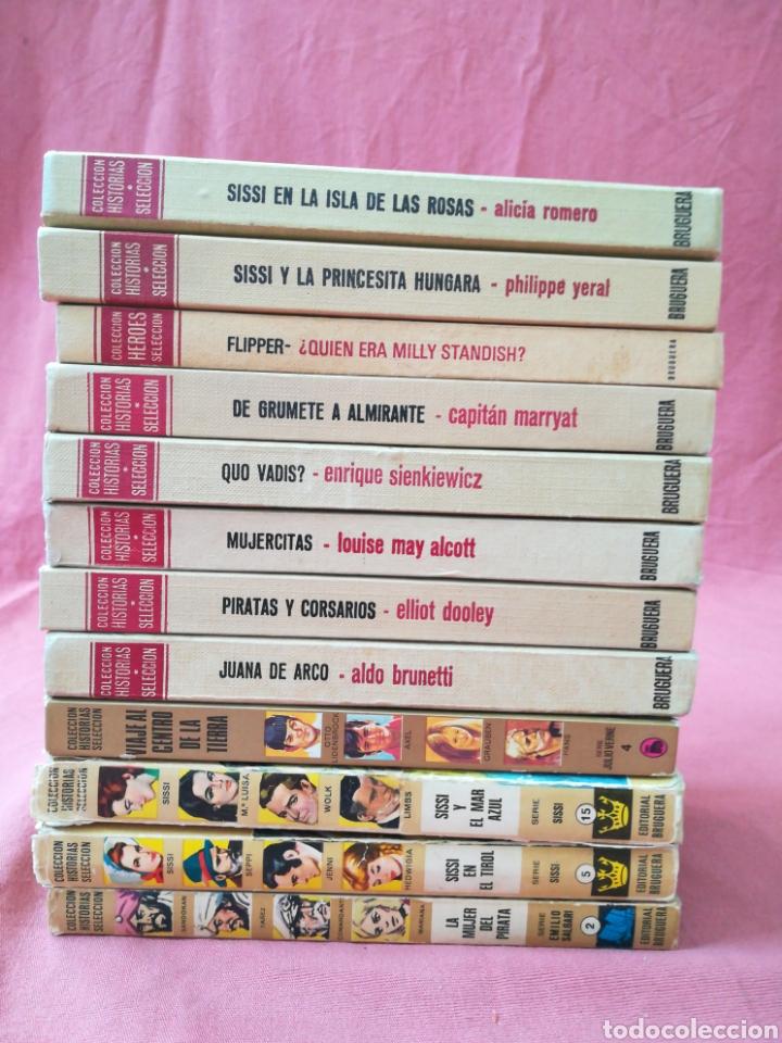 LOTE 12 LIBROS HISTORIAS SELECCIÓN - BRUGUERA - SISSI, JULIO VERNE, FLIPPER... (Libros de Segunda Mano - Literatura Infantil y Juvenil - Novela)