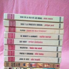 Libros de segunda mano: LOTE 12 LIBROS HISTORIAS SELECCIÓN - BRUGUERA - SISSI, JULIO VERNE, FLIPPER.... Lote 171599824
