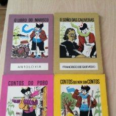 Libros de segunda mano: LOTE 4 LIBROS O MOUCHO, EDICIONS CASTRELOS.Nº 5-7-13-15, ROSALIA DE CASTRO, QUEVEDO, CASADO NIETO, . Lote 174526069