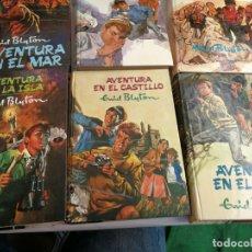 Libros de segunda mano: LOTE 6 LIBROS ENID BLYLON EDITORIAL MOLINO SERIE AVENTURA Nº 1-2-2-4-5-7 Y 8. Lote 175961533
