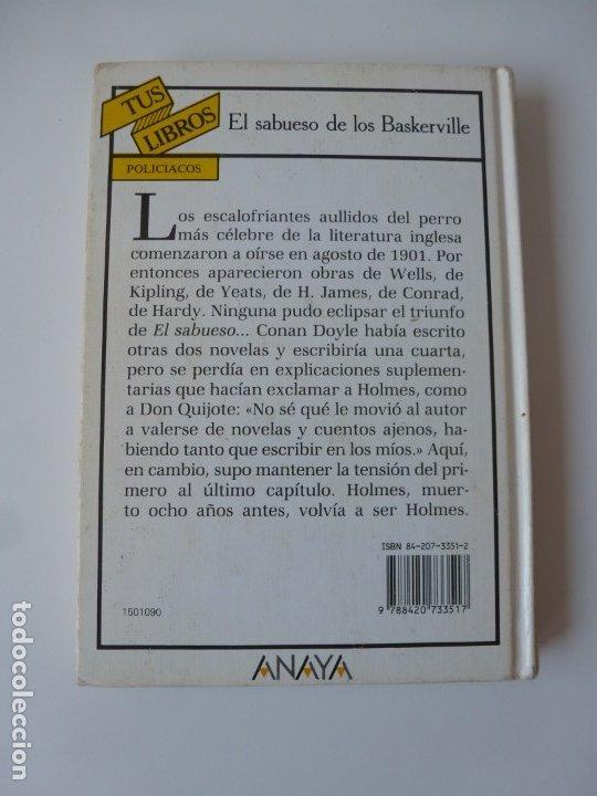 Libros de segunda mano: EL SABUESO DE LOS BASKERVILLE. A. CONAN DOYLE. ANAYA TUS LIBROS Nº 90 - Foto 2 - 177785839